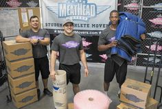 Meathead Movers offers services for free to victims of domestic abuse. Aron Steed remembers helping a woman move items out of her home years ago so she could flee an abusive relationship. All of its employees are student-athletes