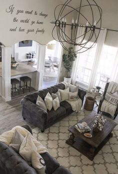 Apr 2020 - Metal word set- If you want to change the world go home and love your family Living Room Grey, Home Living Room, Living Room Designs, Living Room Decor, Dining Room, Comfortable Living Rooms, Living Room Remodel, Living Room Inspiration, Decoration