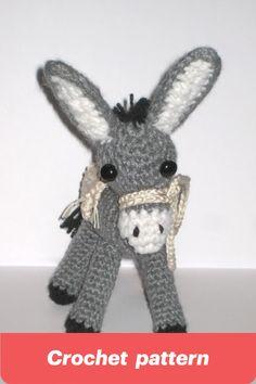 #crochetdonkey #donkeyamigurumi #crochetpattern #donkeytoy #amigurumi #donkey #pletionica Bell Design, How To Make Toys, Thick Yarn, Crochet Instructions, Crochet Basics, Crochet Patterns Amigurumi, Craft Patterns, Donkey, Yarn Crafts