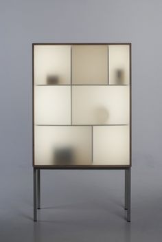 Displayaway - cabinet w/ led lighting by Norwegian designer Stine Knudsen Aas. Nice how the objects appear to be ghostly. Cabinet Furniture, Cool Furniture, Furniture Design, Inexpensive Furniture, Furniture Outlet, Custom Furniture, Luxury Furniture, Home Design, Design Ideas
