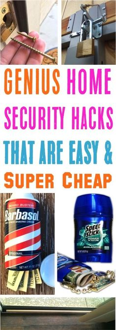 Easy DIY Home Security Ideas!  Make your home safer with sneaky diversion safes, dummy security cameras, and magnetic door alarms!