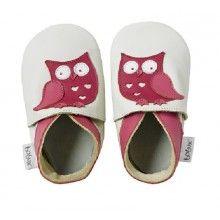 Pink Owl de Bobux Fabricado en piel ecológica