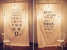 cute wedding idea!