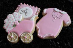 Bebé ducha Cookies bebé ducha favores rayas por 4theloveofcookies
