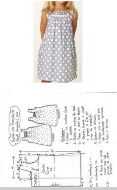 La costura ✂ los Patrones. El vestido........ De 1 año a 14 años