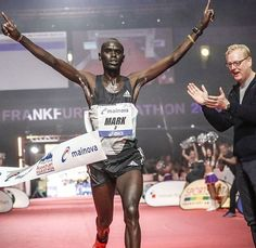And he winner of Mainova Frankfurt Marathon 2016 is Mark Korir from Kenya with a time of 2h06min. Congratulations  . . . Follow us use hashtag #wonderfulrunning and join the movement . . . . . . . @frankfurtmarathon