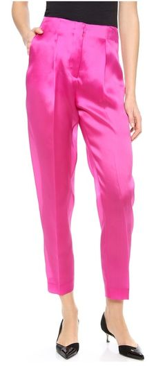 Silk tailored trousers in fuchsia http://rstyle.me/n/e28qunyg6