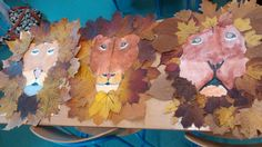 #lions #childrenmade #kidscreating #leaves # fallenleaves