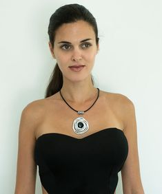 Hey, I found this really awesome Etsy listing at https://www.etsy.com/listing/458772068/black-leather-necklace-wrapped-stone