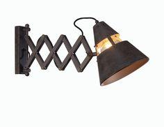 Aplique de pared con flexo extensible Industrial 5444 óxido de Mantra [5444] - 71,22€ :