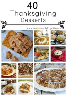 40 Thanksgiving Desserts