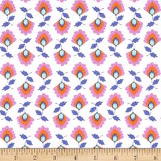Designed for Michael Miller this cotton print is perfect for quilting apparel and home decor accents. Colors include white light blue orange pink and purple. Fabric Design, Pattern Design, Blue Orange, Purple, White Light, Light Blue, Michael Miller, Fabulous Fabrics, Cool Fabric