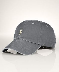 Polo Ralph Lauren Hat, Classic Chino Sport Cap - Macy's - want this for my birfday(;