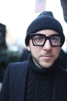 They Are Wearing: Milan Men's Fashion Week Fall 2014 - Slideshow *textures *glasses