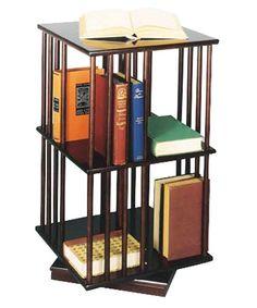 Passport Revolving Wood Book Case - Mahogany - Bookcases at Hayneedle