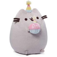 GUND is proud to present Pusheen ? a chubby gray tabby cat that loves cuddles, snacks, and dress-up. As a popular web comic, Pusheen brings brightness and