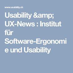 Usability & UX-News : Institut für Software-Ergonomie und Usability