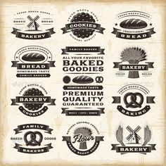 GraphicRiver Vintage Bakery Labels Set 4616358