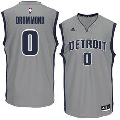 Andre Drummond Detroit Pistons adidas Replica Basketball Jersey - Gray