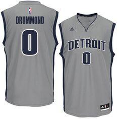 f4a86bdb8f941 Andre Drummond Detroit Pistons adidas Replica Basketball Jersey - Gray