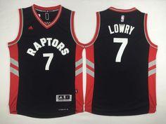ea75e174e73 Toronto Raptors #7 Lowry Black Red Side Men 2017 New Logo NBA Adidas Jersey  Kyle