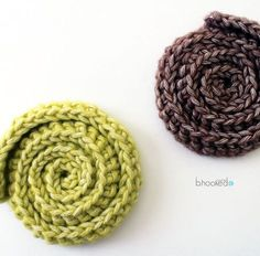 Simple Swirl Embellishment and Motif Crochet Mandala Pattern, Crochet Circles, Granny Square Crochet Pattern, Crochet Flower Patterns, Freeform Crochet, Crochet Round, Yarn Flowers, Knitted Flowers, Bobble Stitch Crochet