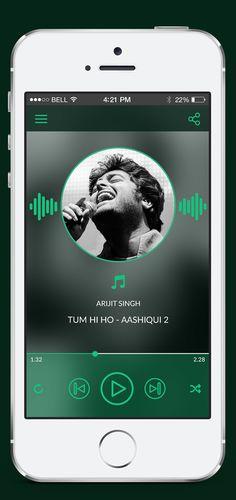 Music App Concept by Ronak Devalia