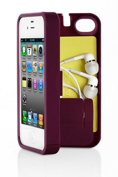 Purple Case for iPhone (Holds Money, Cards, Keys, iPhone).