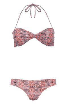 Primark - Pink Geometric Print Bikini Set