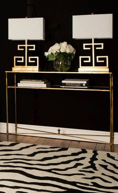 Console and table lamp