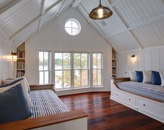 Tongue and Groove Vaulted Ceiling. Bedroom with Tongue and Groove Vaulted Ceiling. #TongueandGroove #VaultedCeiling Colby Construction.
