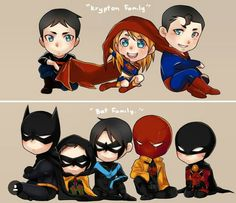 Krypton family and Bat family- Justice League