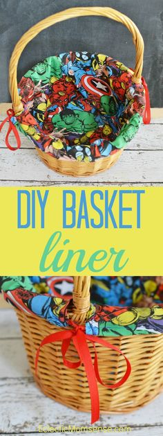 DIY Easter Basket Liner Tutorial   Customize any basket with your favorite fabric. #craft #DIY #Easter
