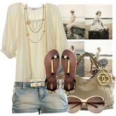 love this beige outfit!
