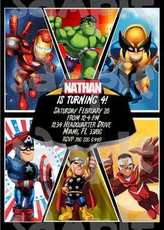 Super Hero Invitation Kids Super Hero Birthday Invitation