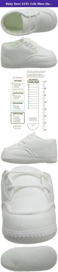 Baby Deer 2151 Crib Shoe (Infant/Toddler),White,0.5 M US Infant. shoe is 100% cotton, including the soft sole. Kinldy refer the images for the correct sizing information.