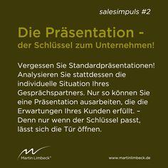 #salesimpuls #2 - Vergessen Sie Standardpräsentationen - gehen Sie auf Ihren Gesprächspartner ein! www.martinlimbeck.de