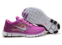 Fake Womens Nike Free Runs 3 Magenta Reflective Silver Pro Platinum Violet Shoes $41.84