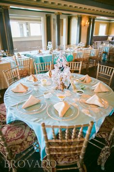 Semple Mansion wedding reception table settings | Linens from Midway Party Rental