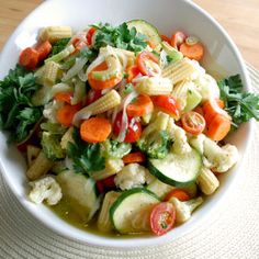 Marinated Vegetable Salad, a recipe from ATCO Blue Flame Kitchen's Holiday Collection 2012 cookbook.