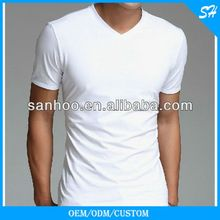 Wholesale 100% Cotton White V-neck T-shirt With Your Own Logo And Label  best buy follow this link http://shopingayo.space