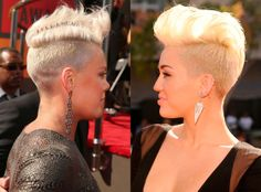 Short Blonde Hair - Pink and Miley Cyrus