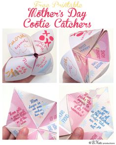 Free Printable Mother's Day Cootie Catcher / Fortune Teller by B.Nute productions