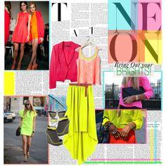 NEON: Bring Out your BRIGHTS!, created by jose-holguin on Polyvore