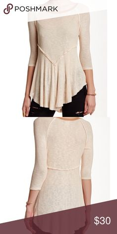 Intimately by Free People Natural Weekends Layer T NWT super soft material. Feel free to ask questions! Free People Tops Tees - Long Sleeve