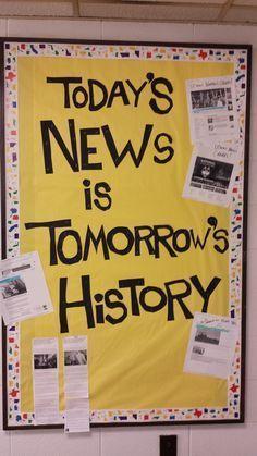 bulletin board ideas for high school social studies - Google Search