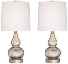 Set of 2 Quad Stacked Crystal Table Lamps - Style # X8518 ...