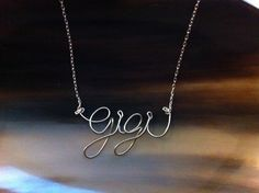 Personalized Wire Name Necklace by bmaddesign on Etsy, $20.00