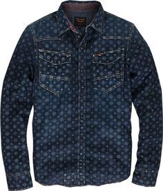 Denim Top, Denim Jeans, Denim Shirts, Biker Wear, Estilo Denim, Work Shirts, Western Shirts, Sweater Shirt, Vintage Denim