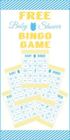 Free Baby Shower Bingo Printable Cards for a Boy Baby Shower! What a perfect baby shower activity! See more baby shower ideas at CatchMyParty.com.